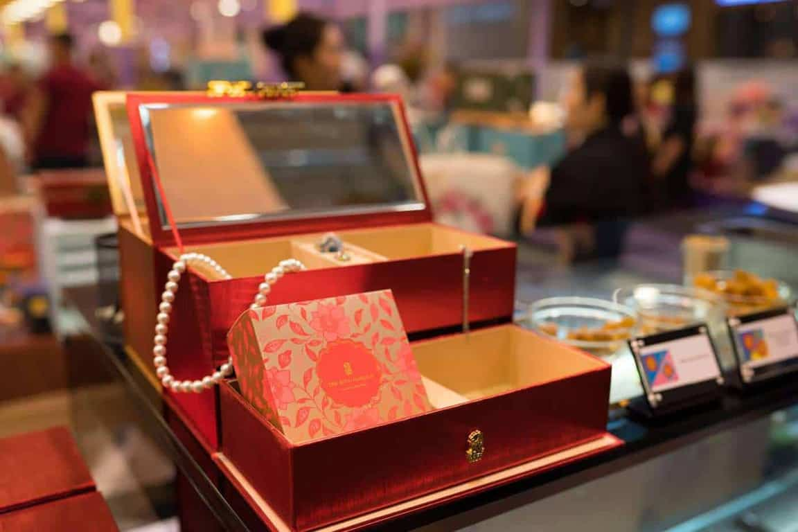 The Ritz Carlton's mooncake jewellery box