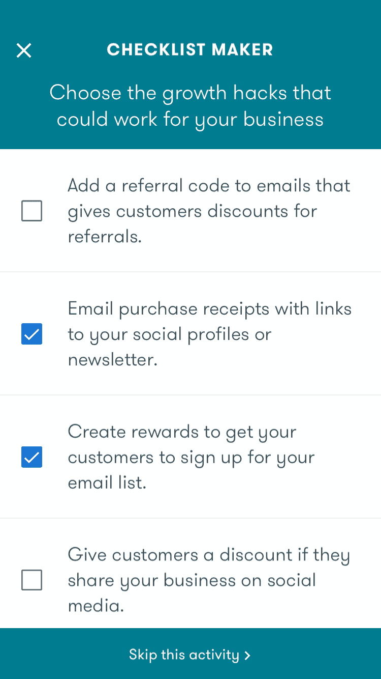 Google Primer Checklist steps