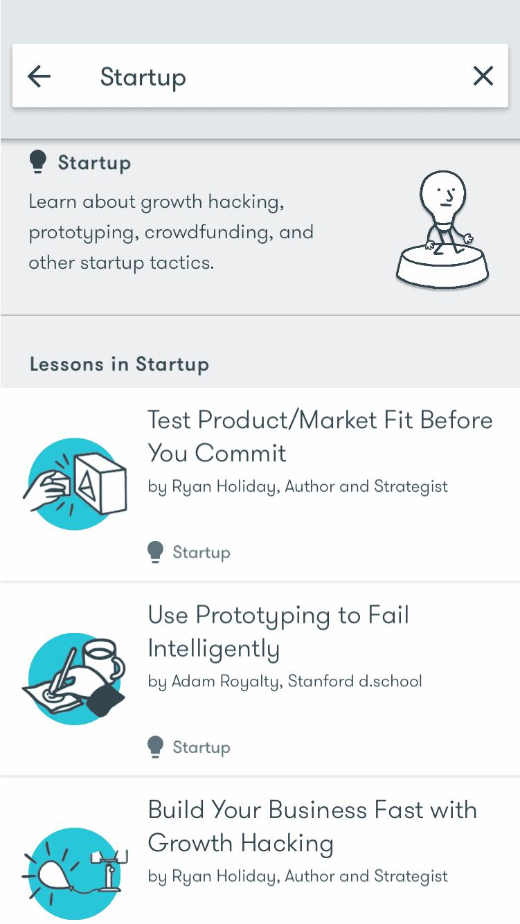 Google Primer startup lesson