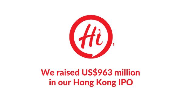 Hai Di Lao raised US$963 million in its Hong Kong IPO.
