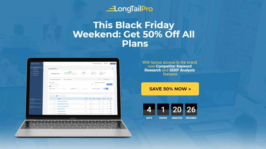 Black Friday Long Tail Keyword