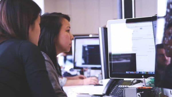 sbo women looking computer