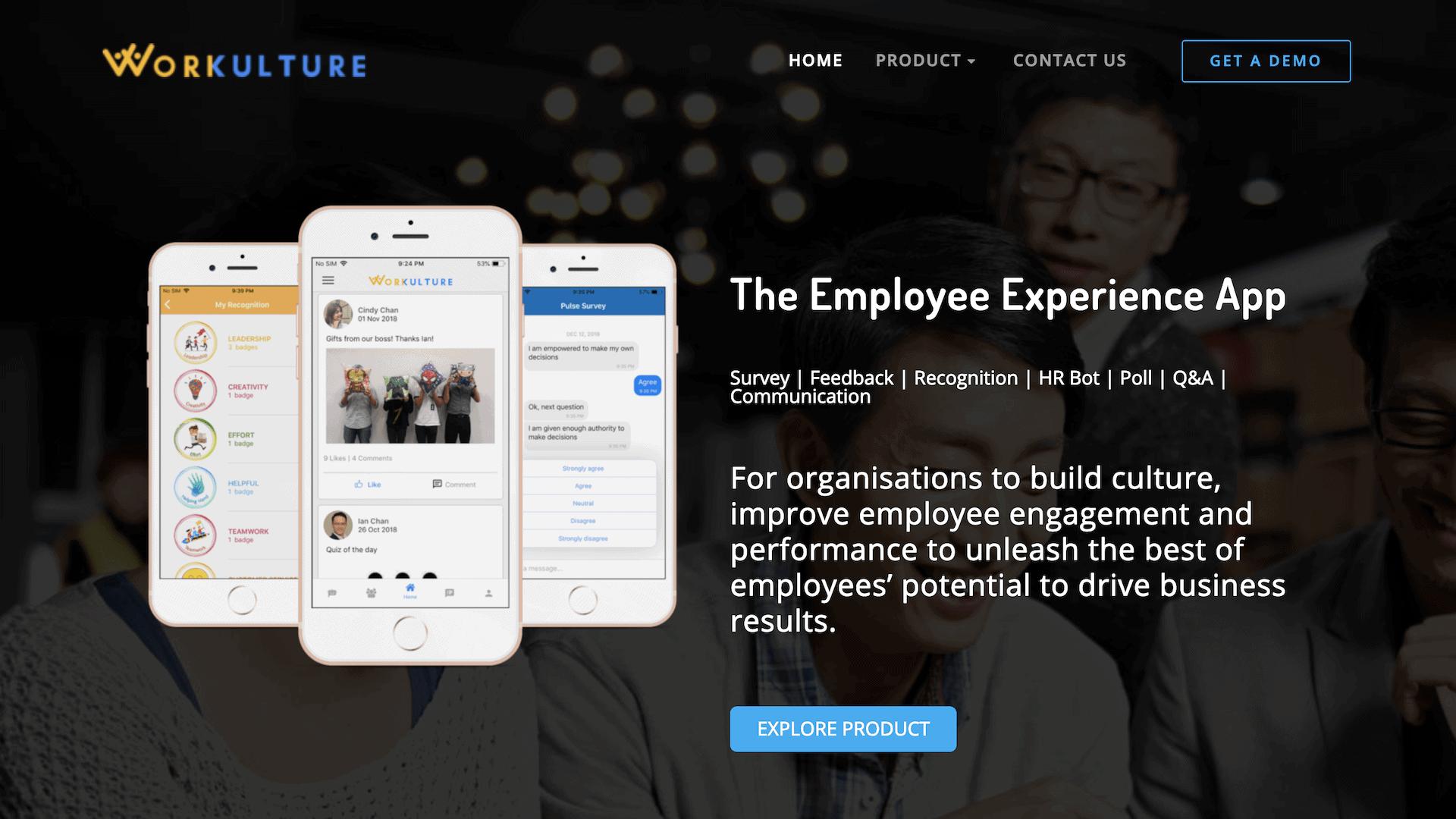 Workulture homepage