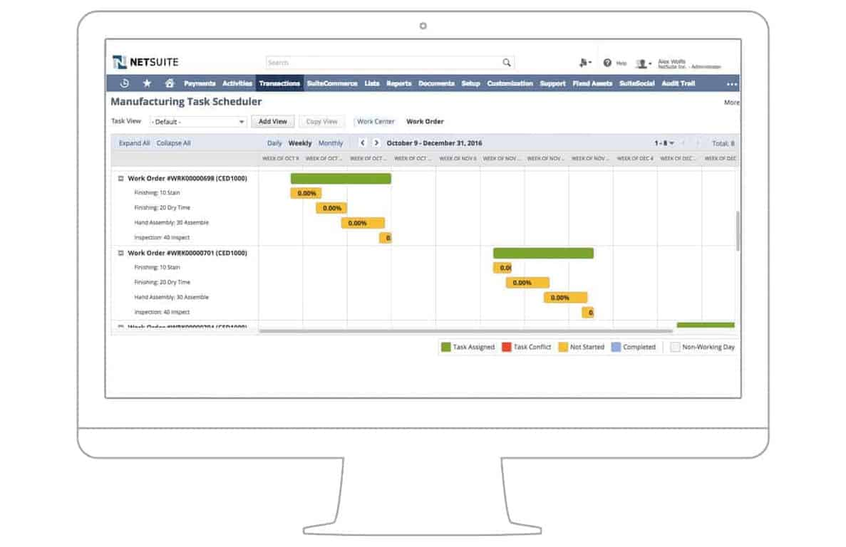 NetSuite - Production Management