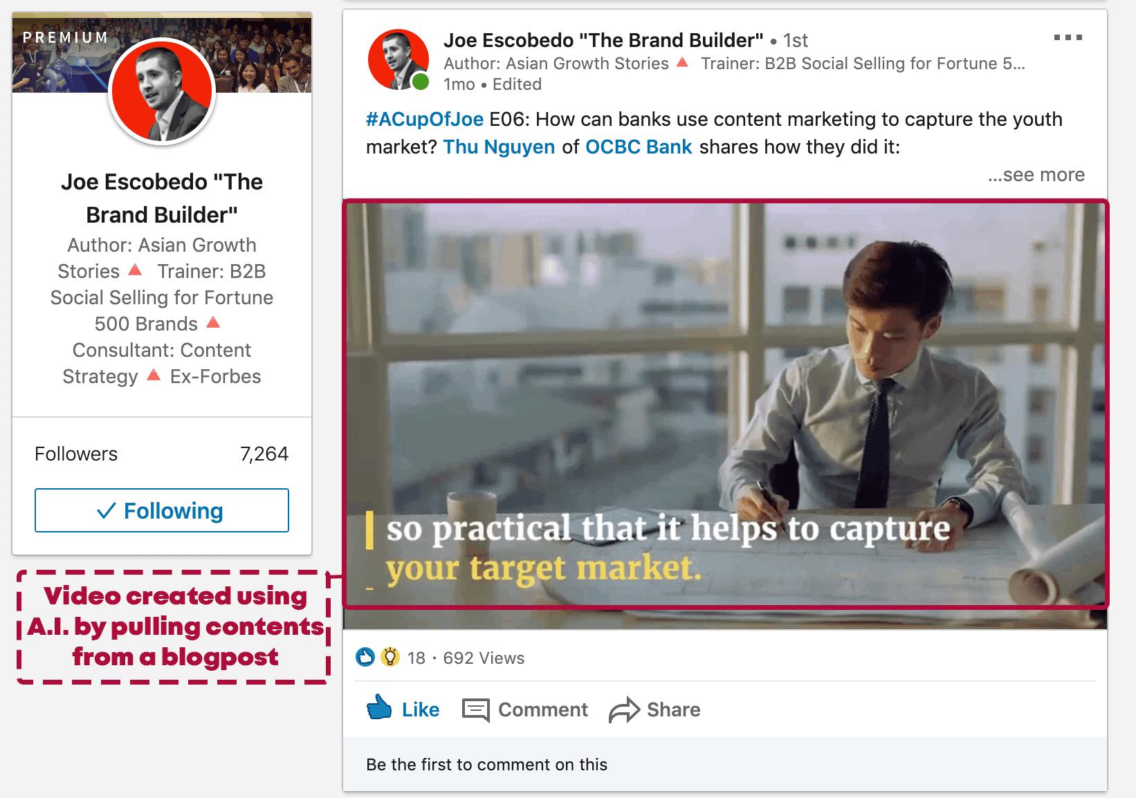 Screenshot of LinkedIn Post