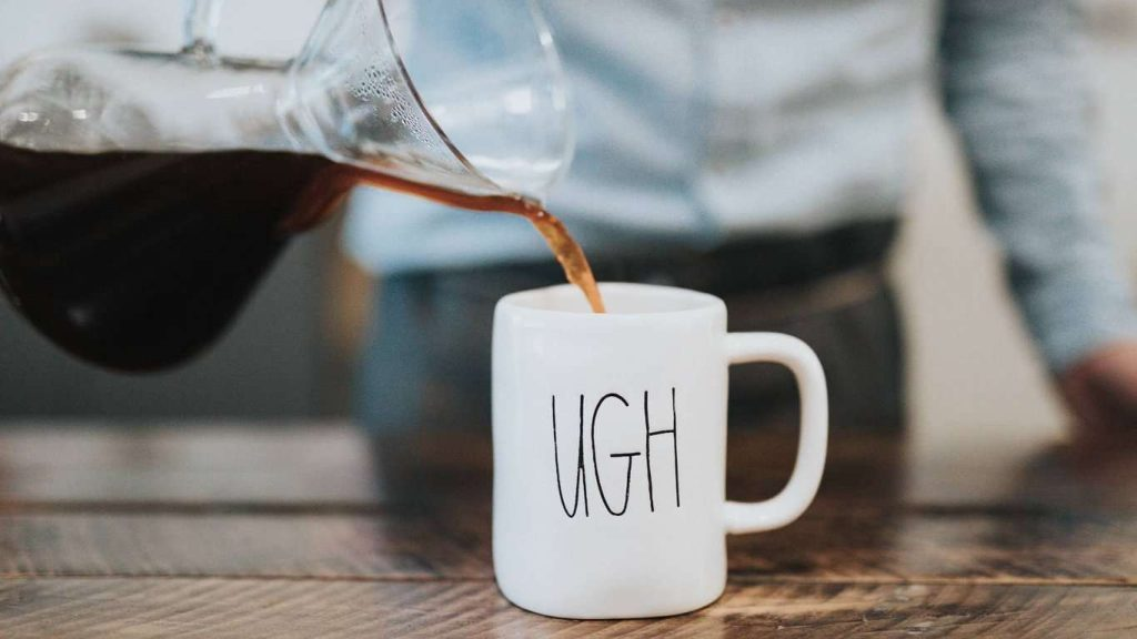 Coffee mug dread ugh