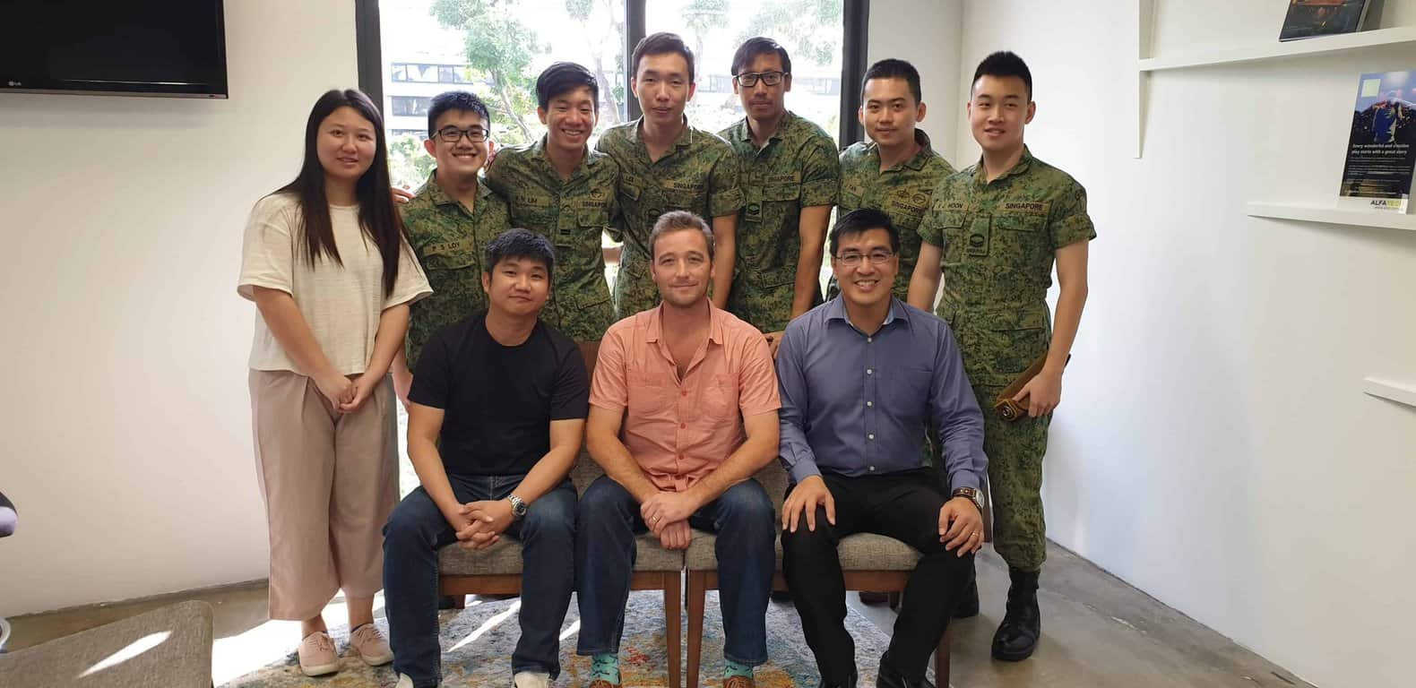 DVUCA staff wearing their uniforms during SAF Day (1 July) in 2019