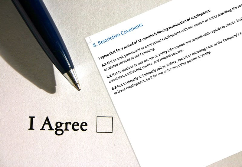 restrictive covenant in contract