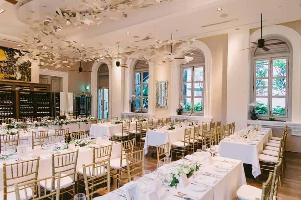 flutes restaurant bar wedding at national museum singapore