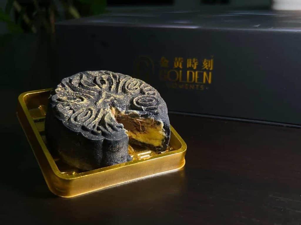 Docello Hazelnut Chocolate Mao Shan Wang mooncake golden moments