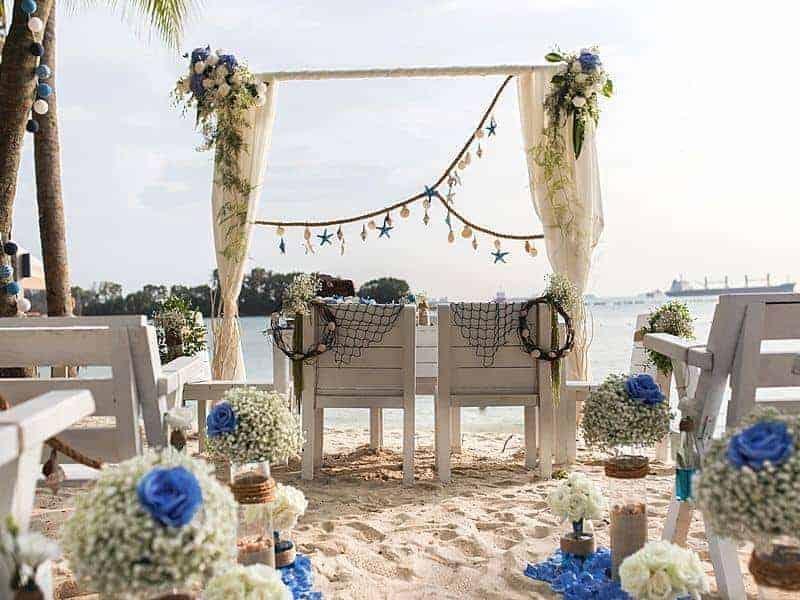 coastes sand bar wedding