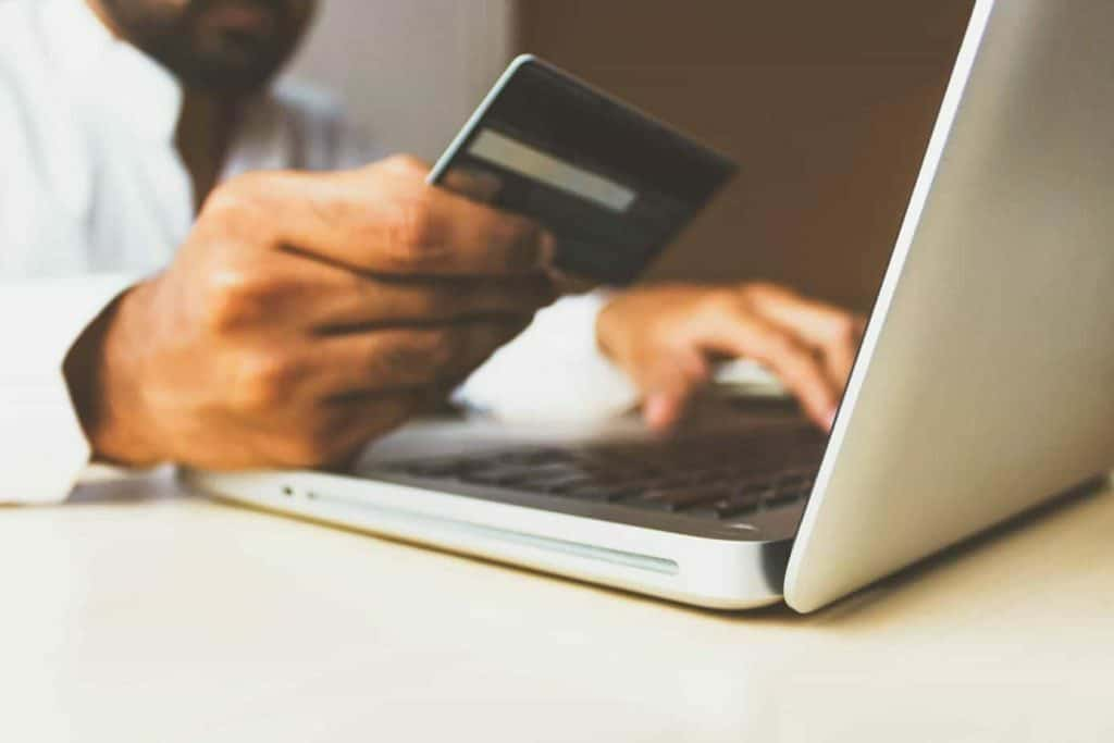 making online purchase credit card