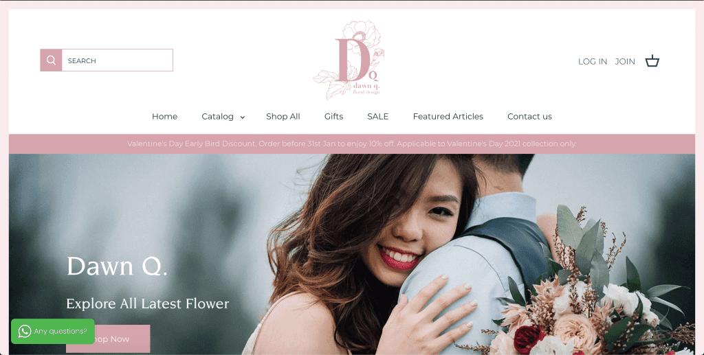 best florist in singapore_dawn q floral design