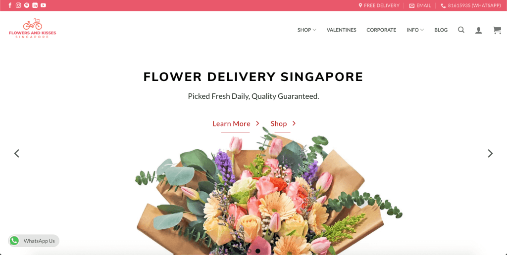 best florist in singapore_flowers and kisses