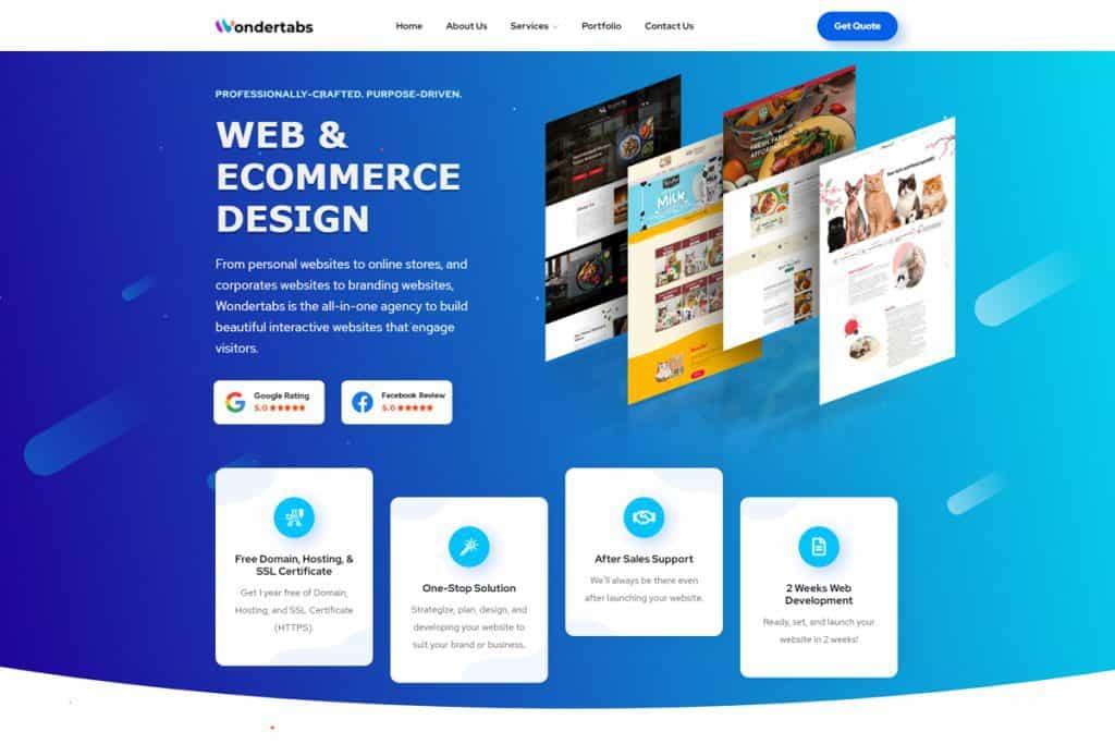 best web design in singapore_wondertabs