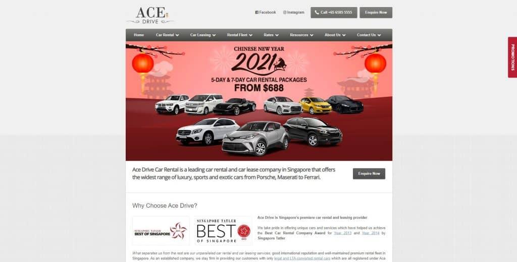 best car rental in singapore_ace drive