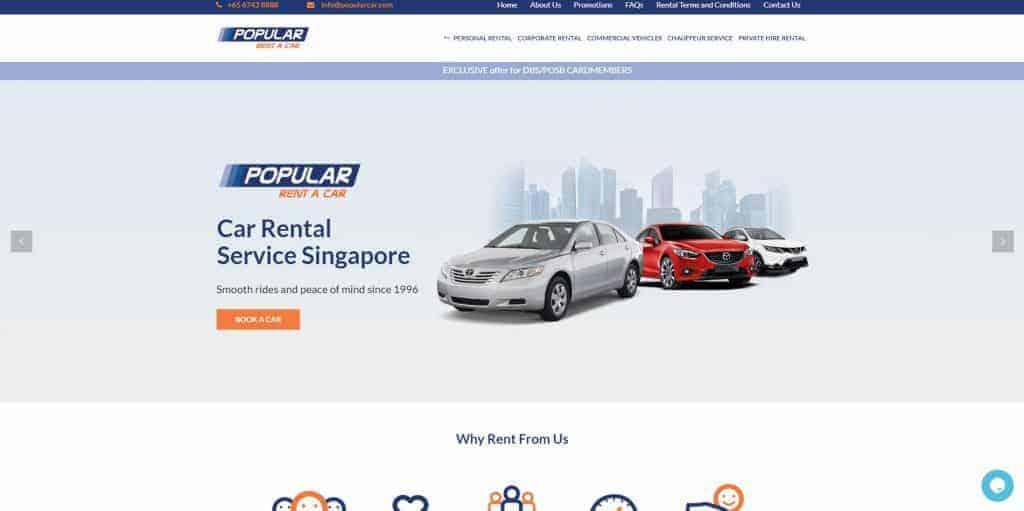 best car rental in singapore_popular rent a car