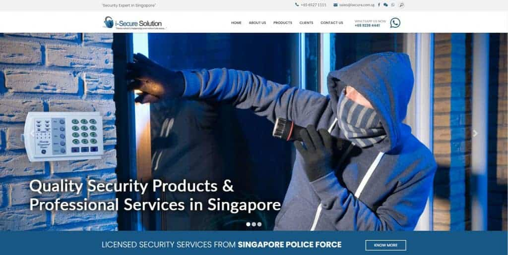 best cctv camera in singapore_isecure