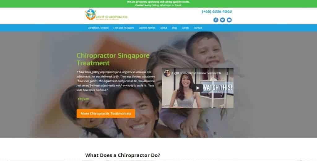 best chiropractor in singapore_light chiropractic