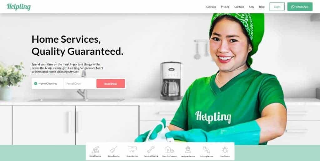 best cleaning service in singapore_helpling home page