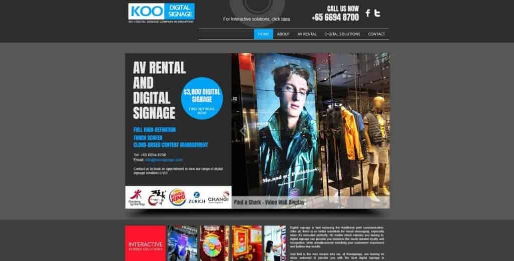 best digital display in singapore_koo digital signage