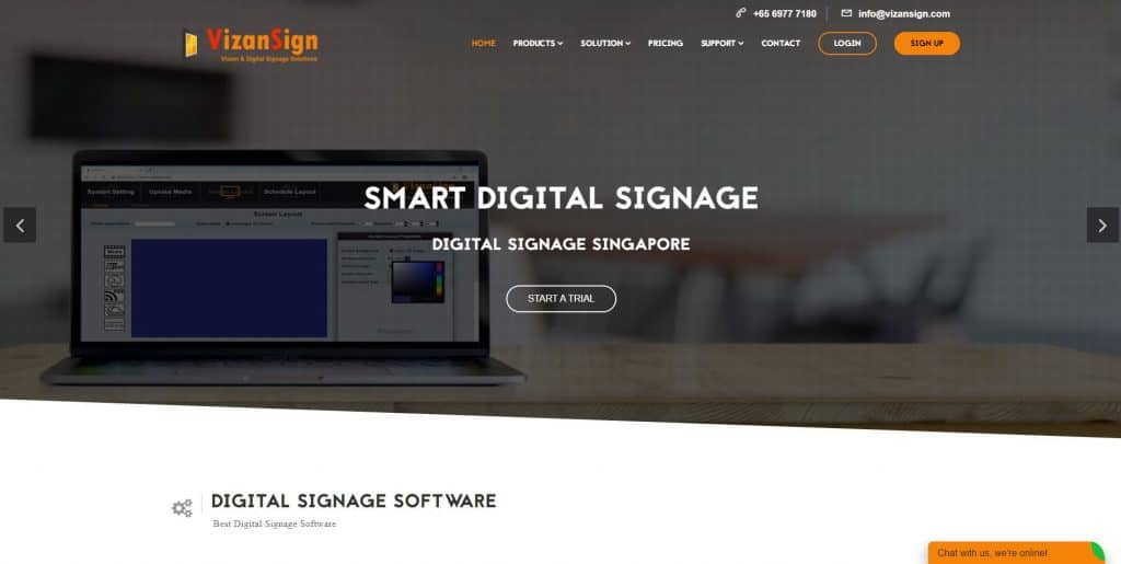 best digital display singapore_vizansign