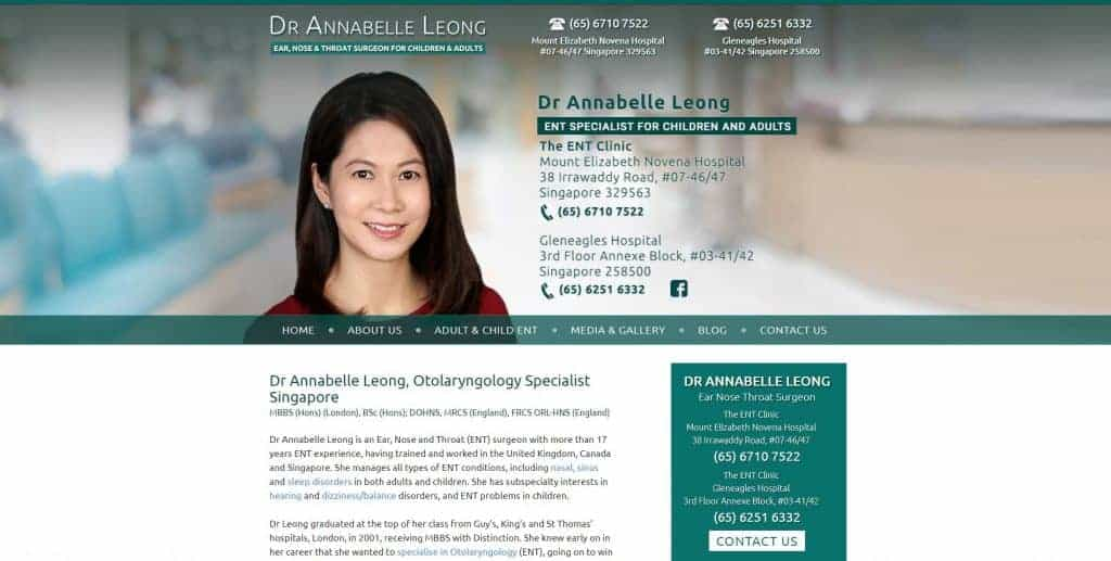 best ent specialist in singapore_dr annabelle leong