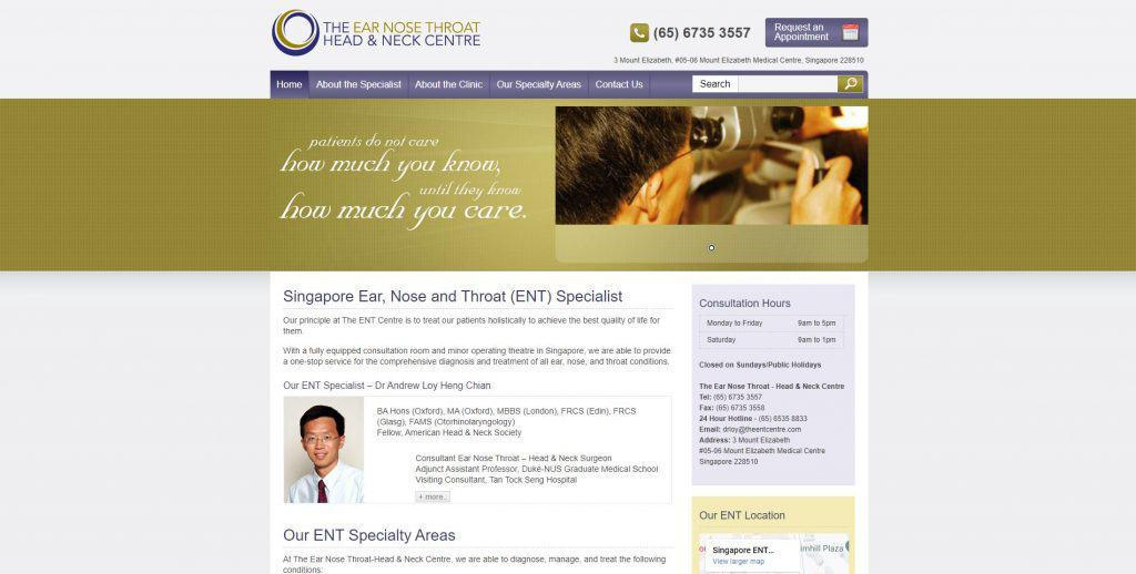 best ent specialist in singapore_the ear nose throat head and neck centre