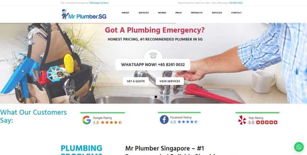 best plumbers in singapore_mr plumber singapore
