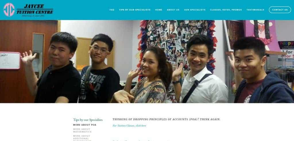 best poa tuition in singapore_jaycee tuition centre