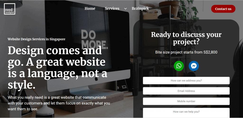 best website design singapore