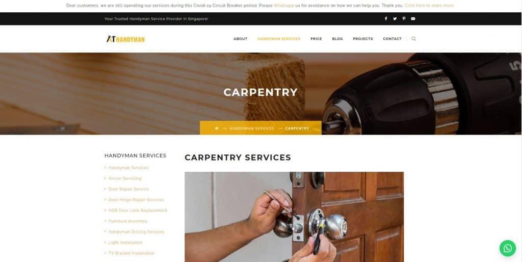 carpenters in singapore_a1 handyman