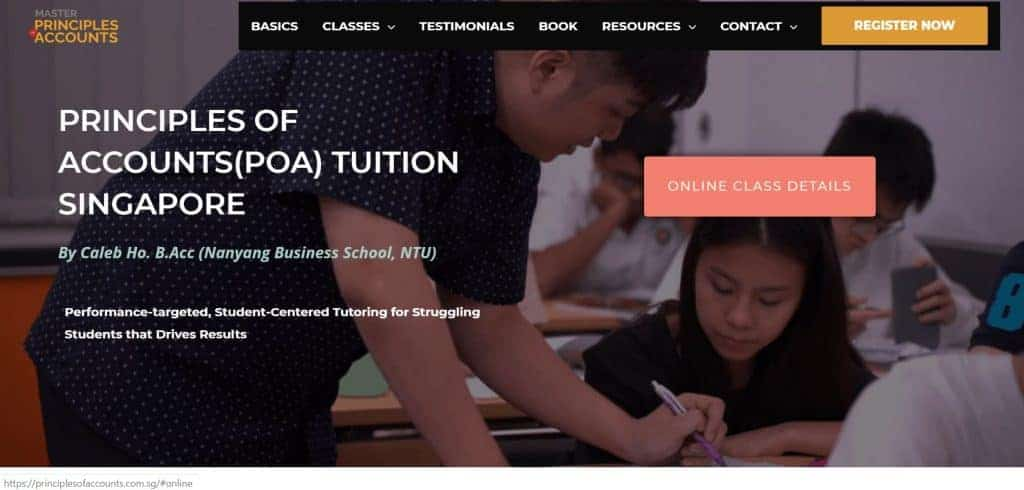 top poa tuition in singapore_master principles of accounts