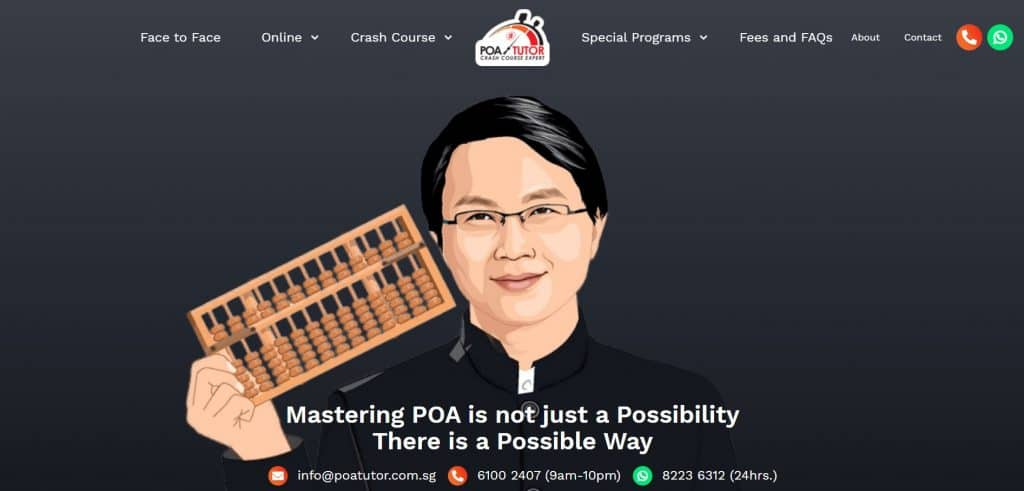 top poa tuition in singapore_poa tutor