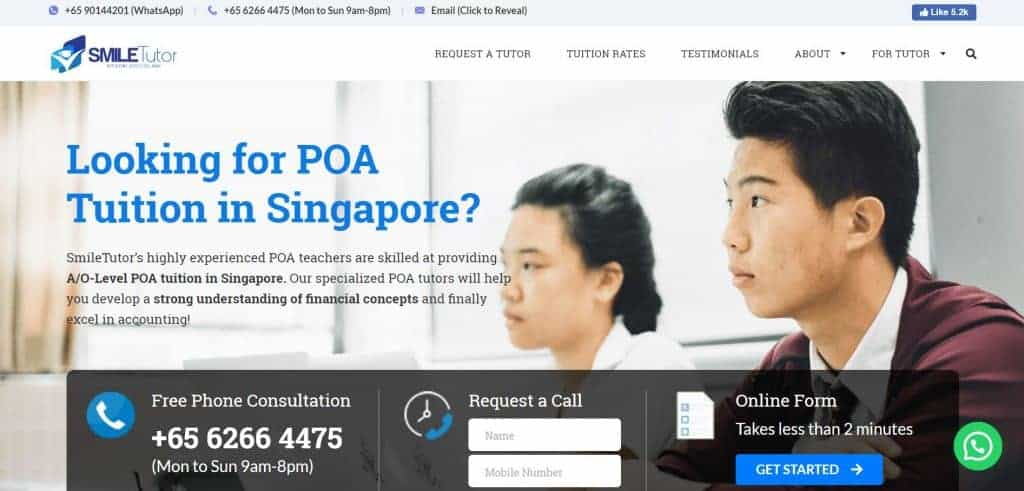 top poa tuition in singapore_smiletutor