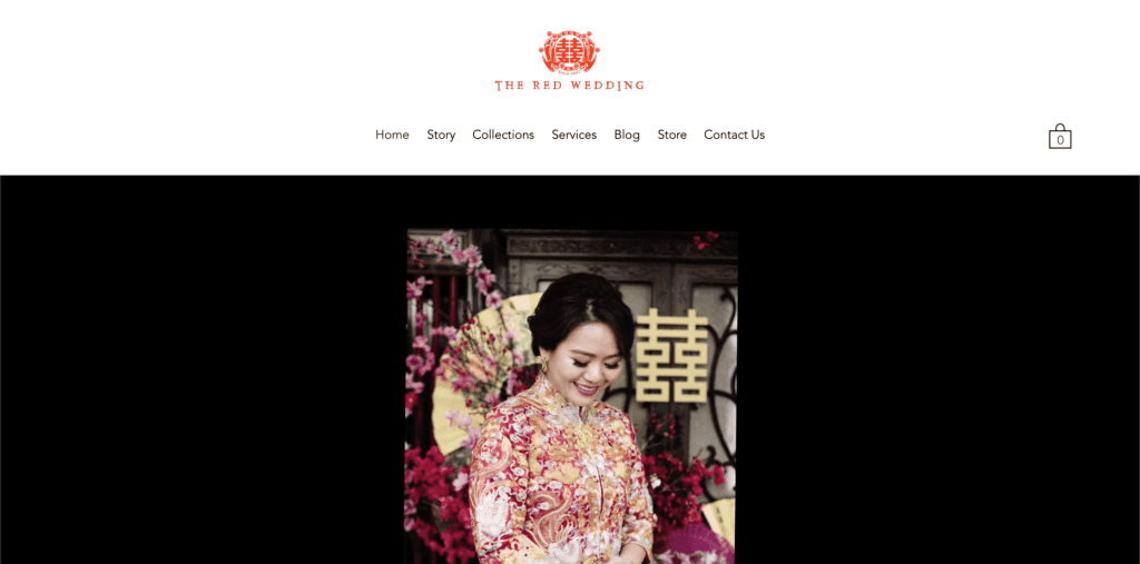best bridal shop in singapore_the red wedding