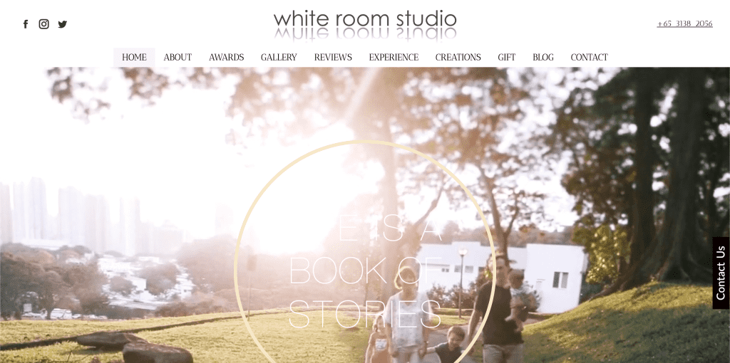 best family photography in singapore_white room studio