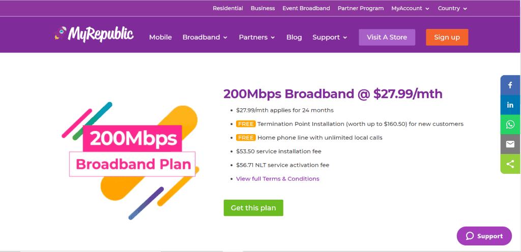 best broadband singapore