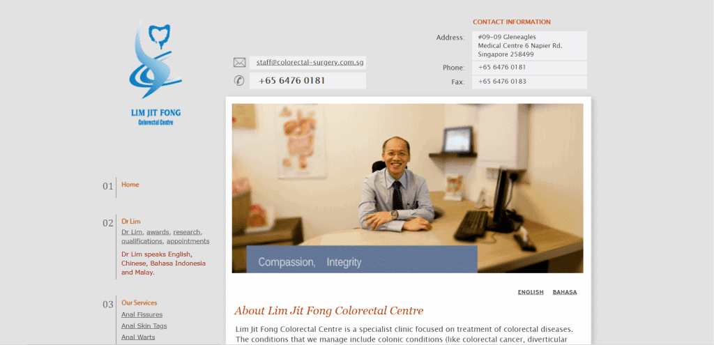 best colon doctor singapore