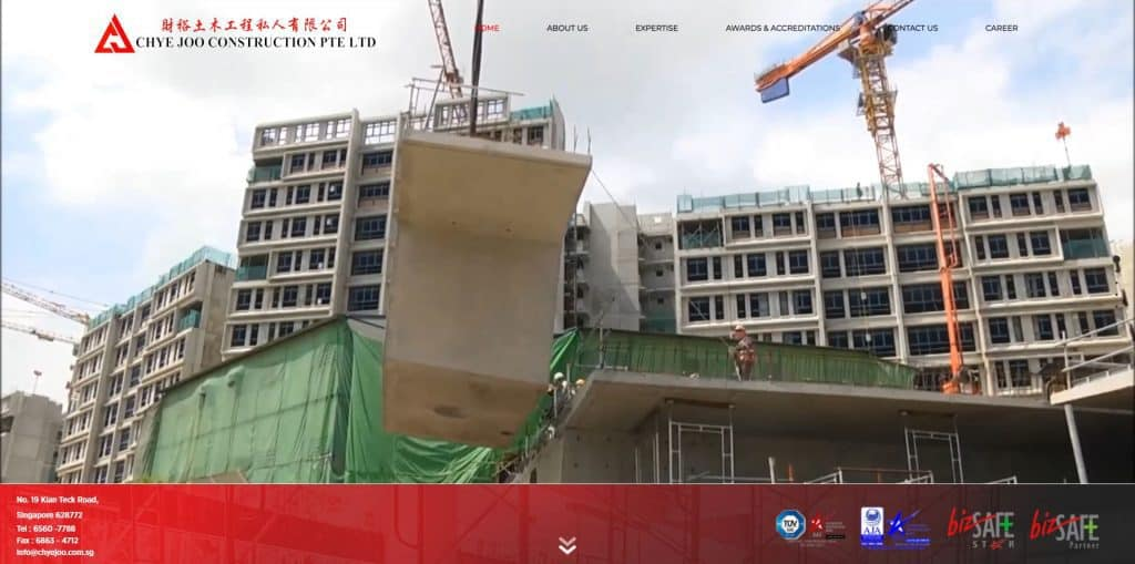 best construction company in singapore_chye joo construction