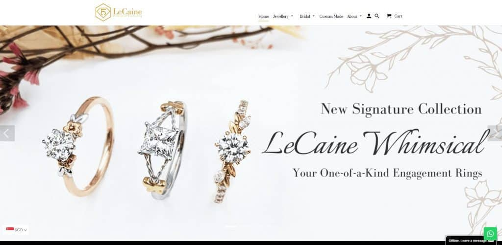 best engagement ring in singapore_lecaine