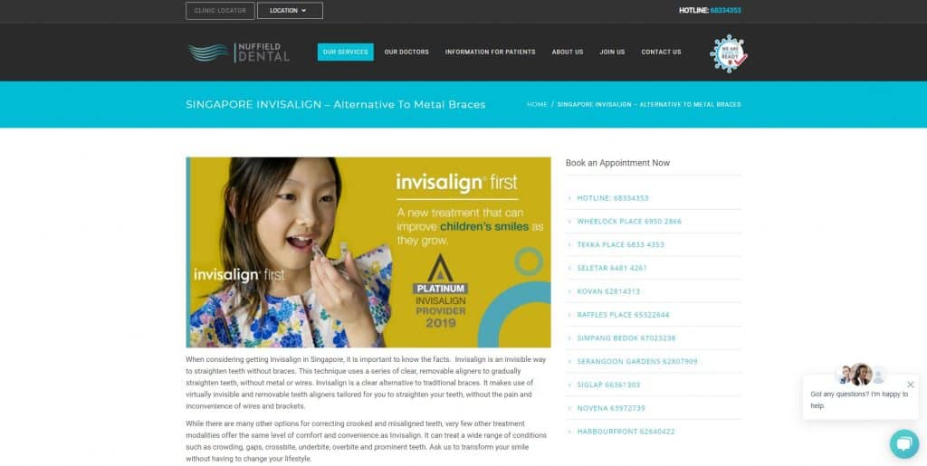 best invisalign in singapore_nuffield dental