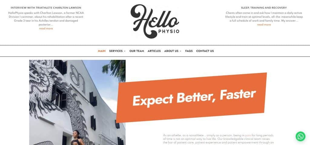 best physiotherapy in singapore_hellophysio
