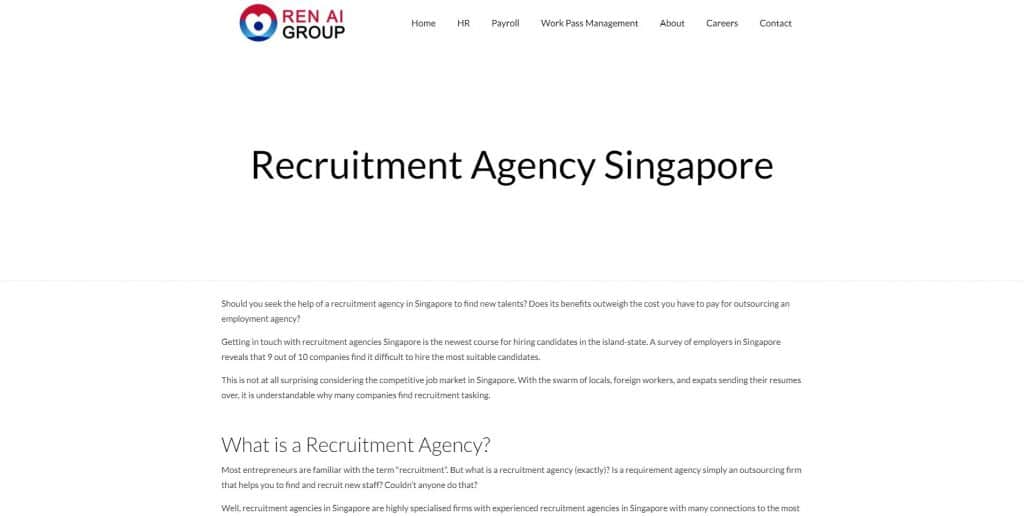 best recruitment agency in singapore_ren ai group