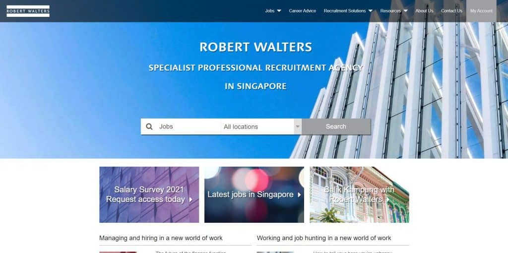 best recruitment agency in singapore_robert walters