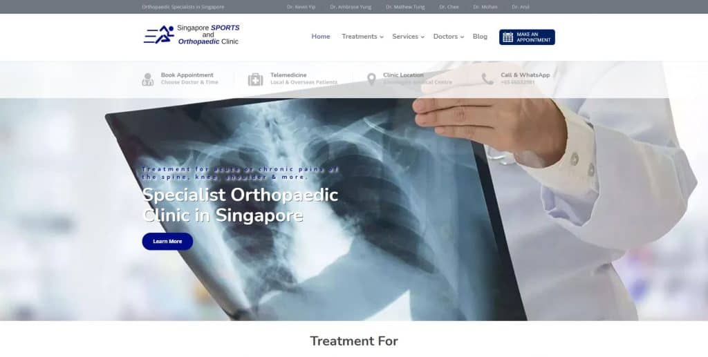 best spine specialist in singapore_singapore sports and orthopaedic clinic