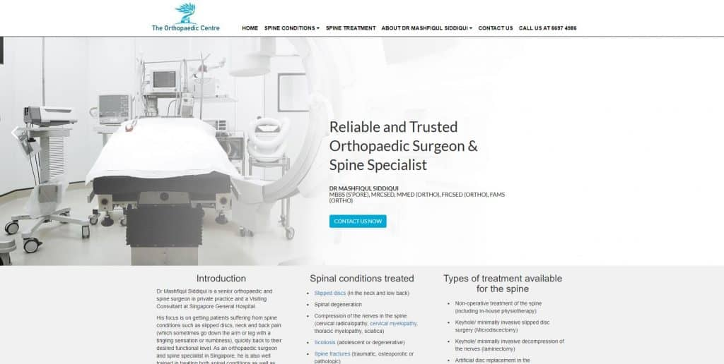 best spine specialist in singapore_the orthopaedic centre