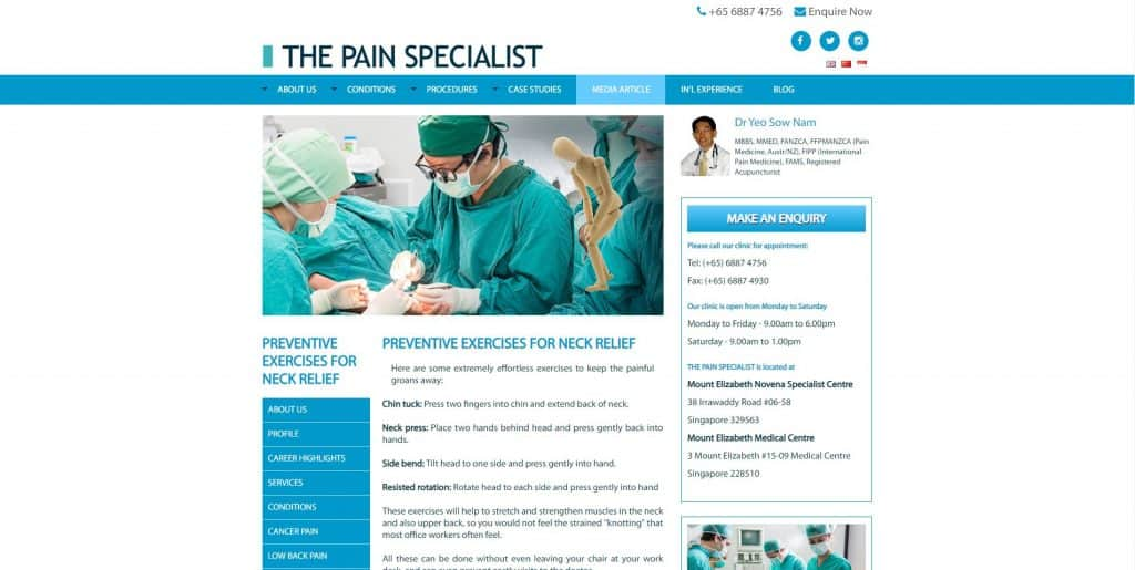 best spine specialist in singapore_the pain specialist