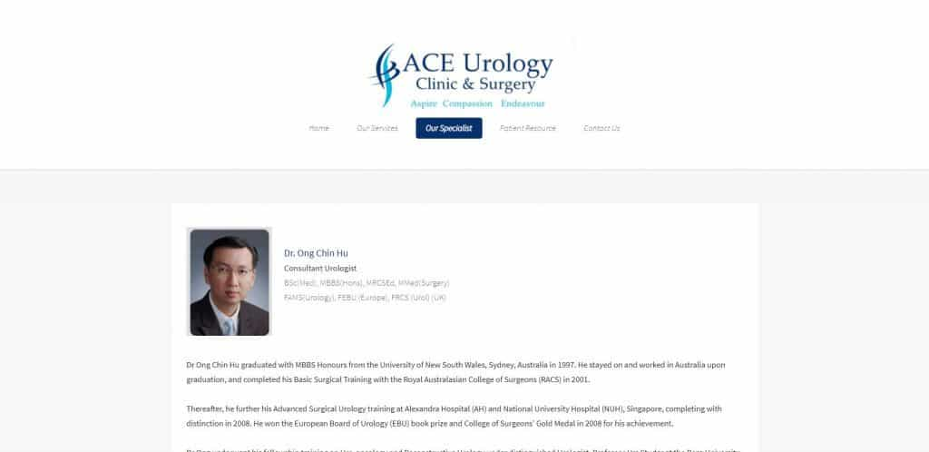 best urologist in singapore_ace urology clinic and surgery