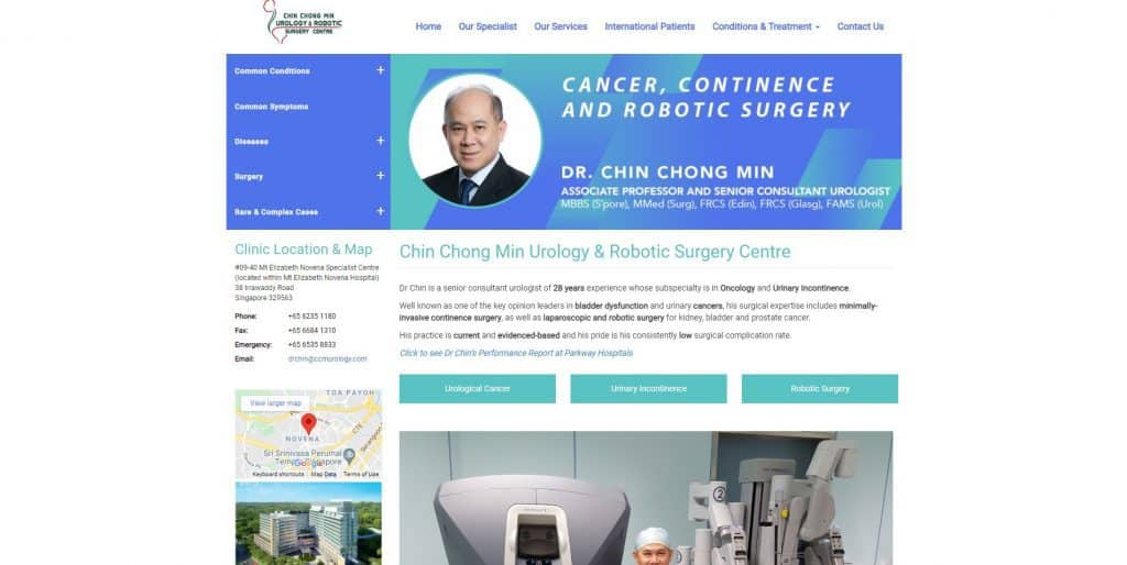 best urologist in singapore_chin chong min urology and robotic surgery centre
